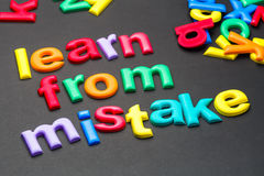 Learn From Mistake Stock Image