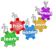Learn From Mistakes Move Forward People Climbing Gears Stock Photography