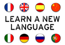 Learn a new language royalty free illustration