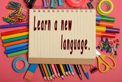 Learn a new language Royalty Free Stock Photo