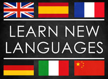 Learn new languages Stock Image