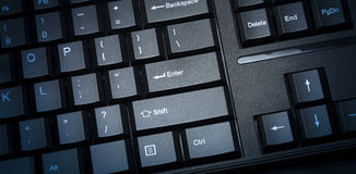 Learn new skills. Computer keyboard e-learning concept Royalty Free Stock Image