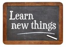 Learn new things on blackboard Royalty Free Stock Image