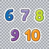 Learn Numbers and counting for Toddlers Numbers for Kids vector royalty free illustration