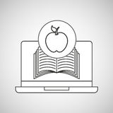 Learn online book apple design Stock Photos