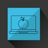 Learn online book apple design Stock Photo