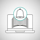 Learn online book bell school Royalty Free Stock Photo