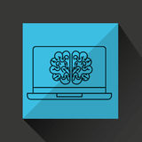 Learn online book brain intellect Stock Photography