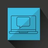 Learn online book bubble speech design Stock Image