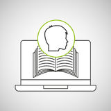 Learn online book student head design Stock Photos