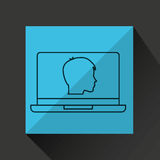 Learn online book student head design Royalty Free Stock Image