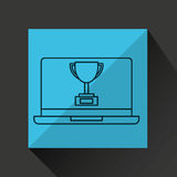 Learn online book trophy winner design Royalty Free Stock Photos
