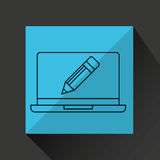 Learn online book writing pencil design Stock Photo