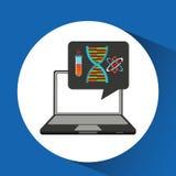 Learn online school chemistry molecule Royalty Free Stock Images
