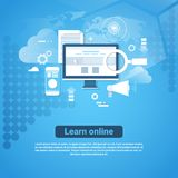 Learn Online Template Web Banner With Copy Space Distant Education Concept Royalty Free Stock Photo