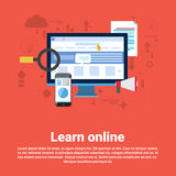 Learn Online Web Education Banner Stock Photo