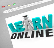 Learn Online - Web Screen Stock Image