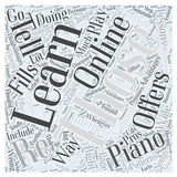 Learn piano online word cloud concept word cloud concept vector background Royalty Free Stock Images