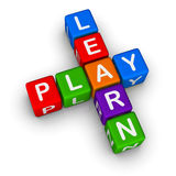Learn and Play. (colorful blocks on white background Stock Photos