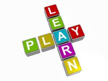 Learn and play sign Stock Image