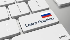 Learn Russian online Royalty Free Stock Photo