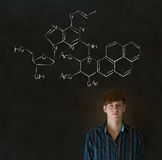 Learn science or chemistry teacher with chalk background Stock Images