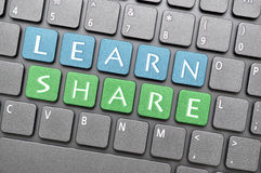 Learn and share key Stock Image