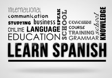 Learn Spanish - collage concept royalty free illustration