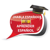 Learn Spanish  speech bubble Stock Photos