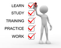 Learn, study, practice, training, work Royalty Free Stock Image