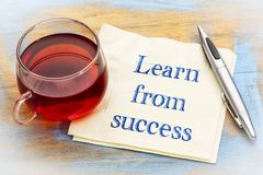 Learn from success advice Stock Photo