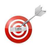Learn target illustration design Royalty Free Stock Image