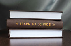 Learn to be wise. Book concept. Stock Photography