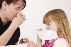 Learn to blow one's nose Royalty Free Stock Photo