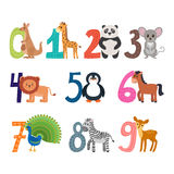 Learn to count. Funny cartoon childish illustration  Royalty Free Stock Photography