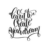 Learn to create your dream black and white hand written letterin Royalty Free Stock Image