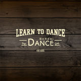 Learn to dance badges logos and labels for any use Royalty Free Stock Images