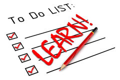 Learn! To do list Royalty Free Stock Photos