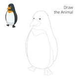Learn to draw animal penguin vector illustration Stock Image