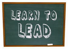 Learn to Lead - Chalkboard Royalty Free Stock Photo