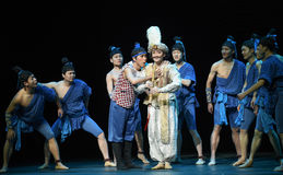 """Learn to play the Chinese flute-Dance drama """"The Dream of Maritime Silk Road"""" Stock Photography"""
