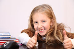 Learn to properly. Student's lessons, tries to read, learn, education receives Stock Photography