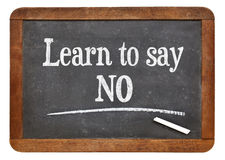 Learn to say no advice Royalty Free Stock Images