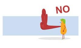 Learn to say NO. Cartoon saying NO. Vector Stock Photos