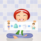 Learn to use the potty Stock Images
