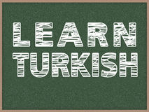 Learn Turkish Stock Image