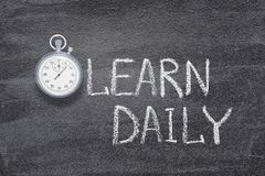 Learn daily watch stock photography