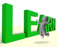 Learn Word Showing Education Training Or Learning. Learn Word Shows Education Training Or Learning Stock Images