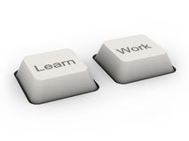 Learn and Work buttons. (image can be used for printing or web Royalty Free Stock Image