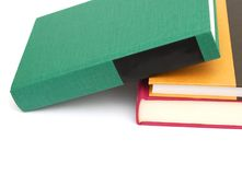 Learned books. Closeup on learned books background Royalty Free Stock Photography